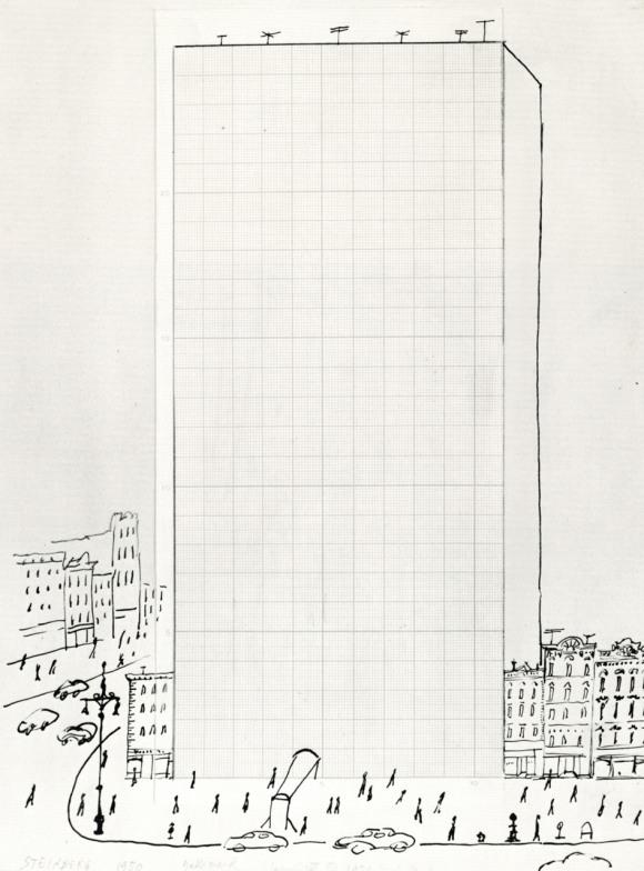 cartoon modernis -saul steinberg
