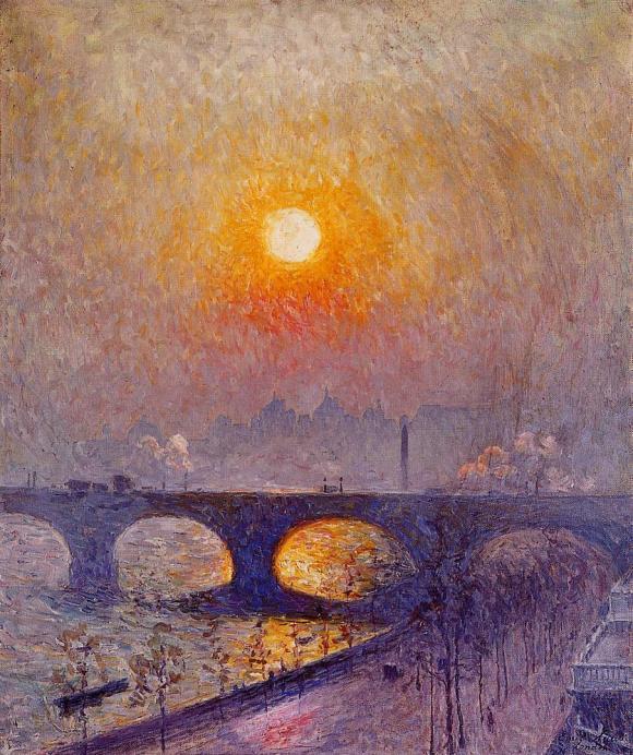 Emile Claus - Sunset Over Waterloo Bridge