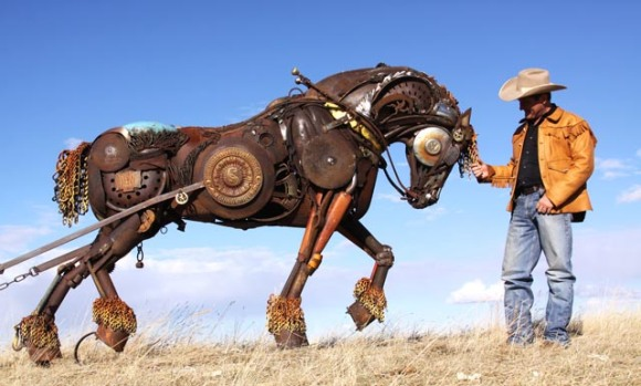 john lopez - iron sculptures